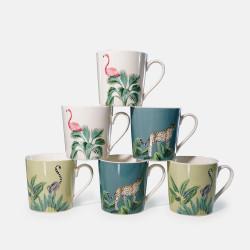 Coffret 6 mugs porcelaine