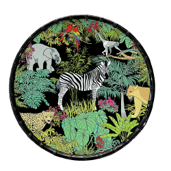 "Plat rond ""Jungle"""